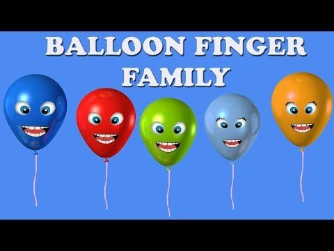 Finger Family | Finger Family Nursery Rhymes | Balloon Finger Family Collection - Vidinterest
