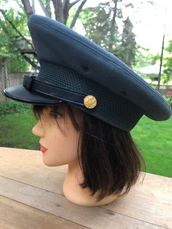 Hold For Juliana Vintage Military Police Hat With Badge Etsy Vintage Military Police Hat Military Police