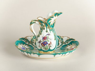 The medium of porcelain became a focus of French rococo design thanks to the enthusiasm of Madame de Pompadour. She convinced Louis XV of the international prestige to be gained by a French manufactory that could develop an innovative rococo line to challenge the German production of the Saxon court at Meissen. Louis invested in a fledgling porcelain enterprise, then located in the abandoned fortress of Vincennes, constructed new premises at Sèvres in 1756, and finally bought the enterprise…