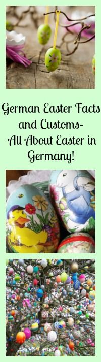 German Easter Facts and Customs.... learn all about Easter in Germany! Including dates, vocabulary, traditions, legends... and where to get yummy German Chocolate for Easter!