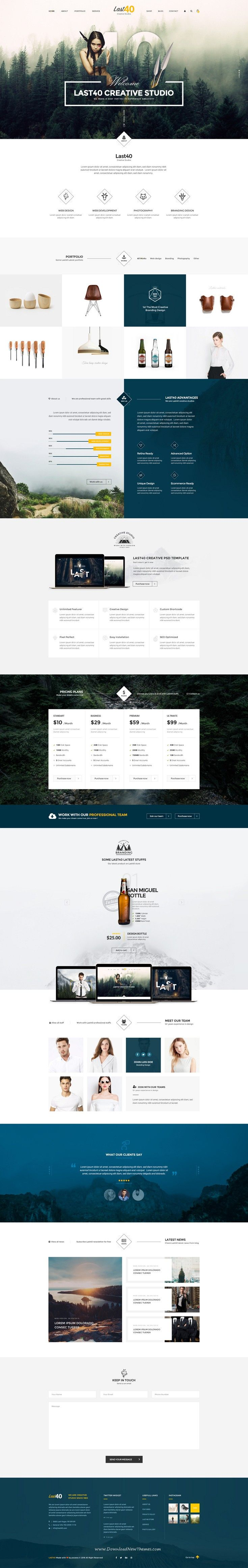 Last40 is Creative PSD Template for #multipurpose website. It comes with 4 stunning homepage layouts. #psdtemplate