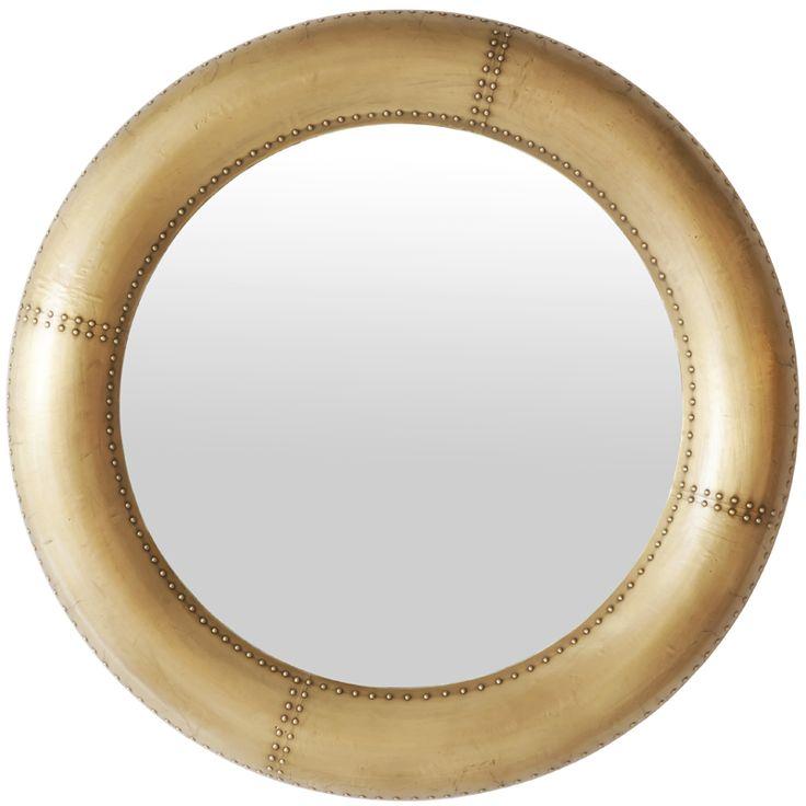 Round Mirror – Matt Brass