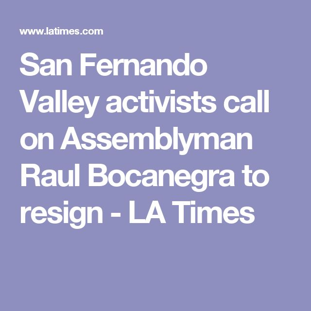 San Fernando Valley activists call on Assemblyman Raul Bocanegra to resign - LA Times