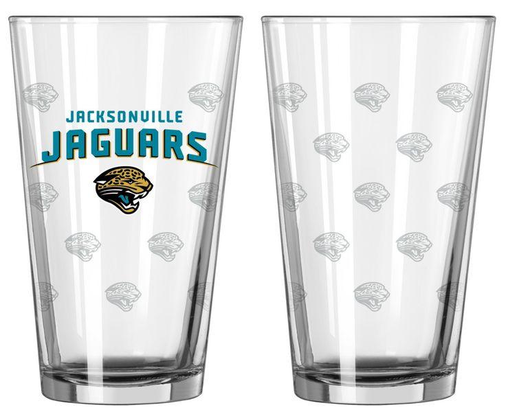 Jacksonville Jaguars Satin Etch Pint Glass Set