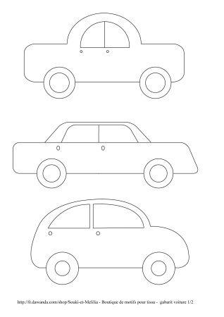 https://soukietmelilia.wordpress.com/2015/07/02/gabarits-voiture-a-telecharger-au-format-pdf// Gabarits pour vos projets de couture, appliqué, scrapbooking, jouet enfant, voiture en tissu, bricolage - Free template cars to download for sewing, scrapbooking, diy