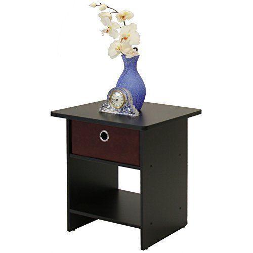 Nightstand Wood Side Table Pair Bedside Bedroom Stand Storage Furniture Drawer #NightstandSideTablePairBedsideBedroom #Modern