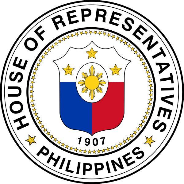 Brasão da Câmara dos Representantes das Filipinas. Seal of the House of Representatives of the Philippines.