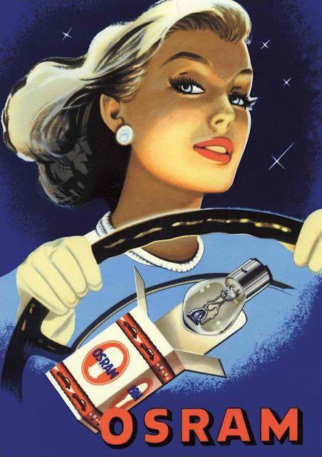 OSRAM lightbulbs. Vintage Ad.