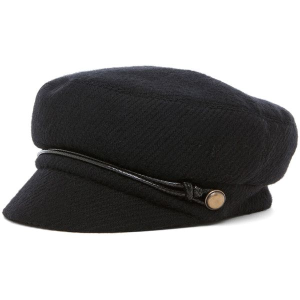 Eugenia Kim Elyse Boucle Cashmere Cap (116.090 CLP) ❤ liked on Polyvore featuring accessories, hats, black, cap hats, cord cap, eugenia kim, eugenia kim hats and cashmere hat