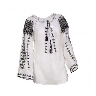 Blouse Roumaine Traditional Handmade Embroidery H411