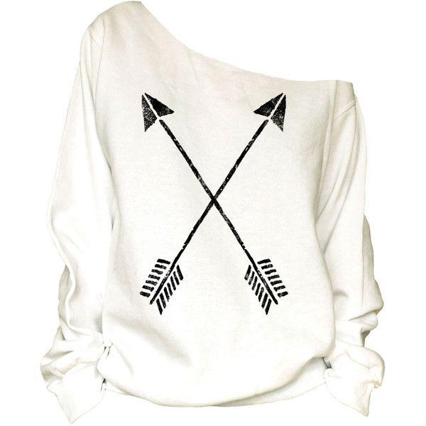 Crossed Arrows Print Oversized Off Shoulder Raw Edge Sweatshirt-87 ($29) ❤ liked on Polyvore featuring tops, hoodies, sweatshirts, black, women's clothing, oversized sweat shirts, off shoulder sweatshirt, black sweatshirt, off the shoulder tops and anchor sweatshirt