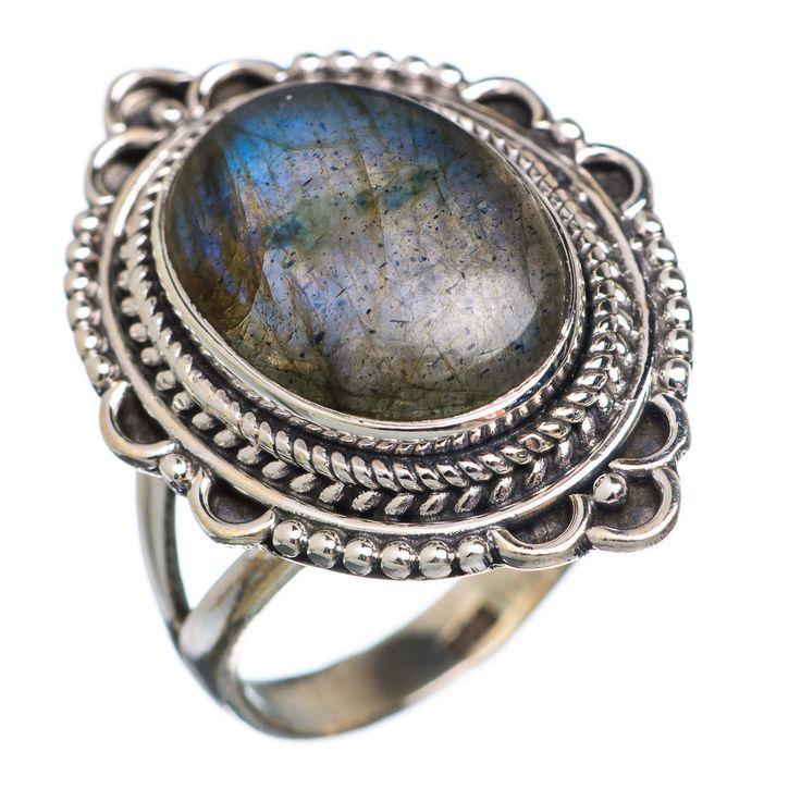Labradorite 925 Sterling Silver Ring Size 7.25 RING657932