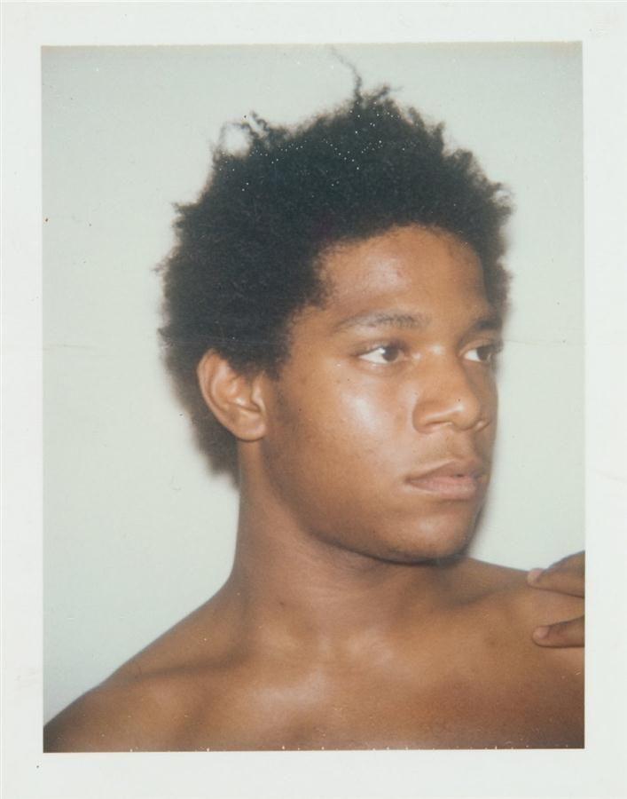 Jean-Michel Basquiat. Andy Warhol polaroid