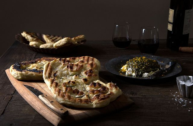 How to make grilled flatbread.