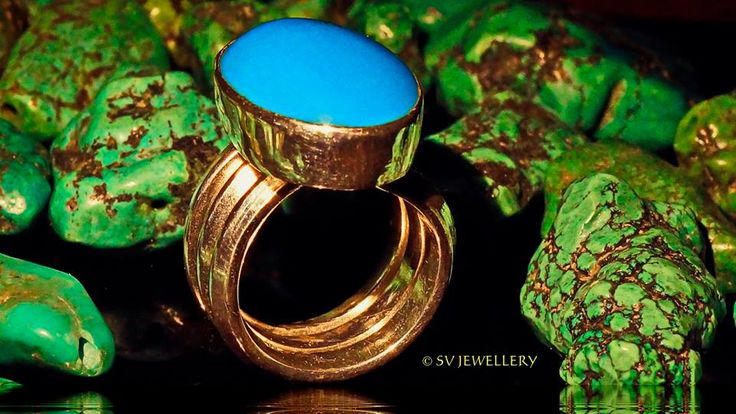16 karat,first quality,Iranian turquoise,Silver Ring