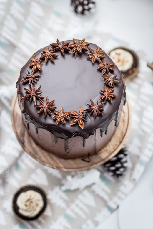 {Chocolate gingerbread cake.}