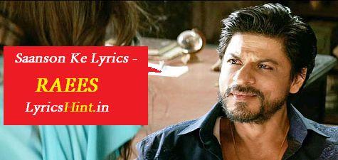 Saanson Ke Lyrics – Raees #Raees #song #Lyrics #Music #Youtube #video