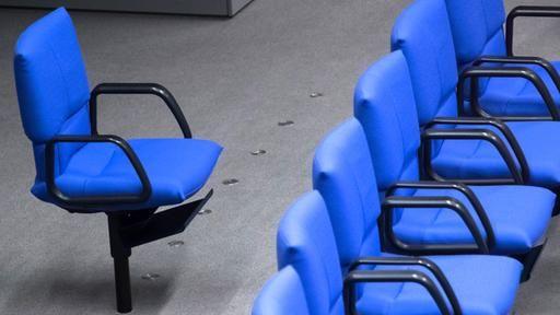 Sitze im Bundestag: Der blaue Stuhl   tagesschau.de