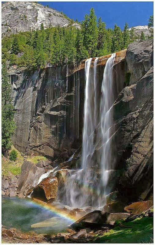 Vernal Fall, Yosemite National Park, California, United States.