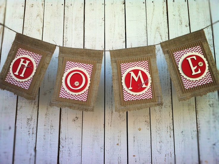 Burlap Banner Fabric Bunting Pennant Banner Home Decor