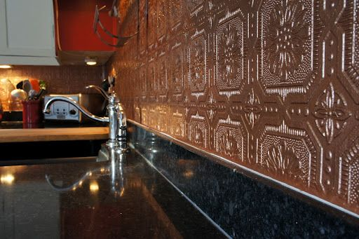 85 best images about pressed tin paintable wallpaper on for Textured wallpaper backsplash