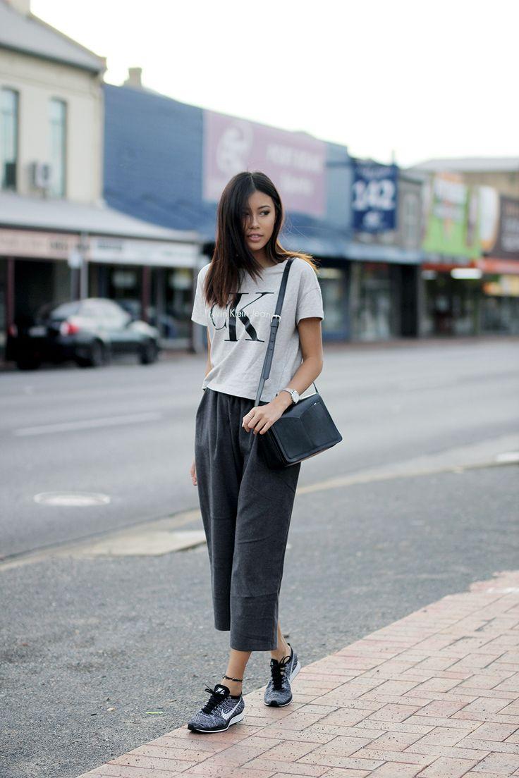 nice Модные серые женские кроссовки Найк (50 фото) — С чем правильно носить?