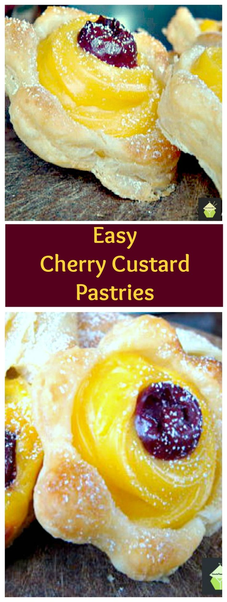 Easy Cherry Custard Pastries are perfect for serving at a tea party ...