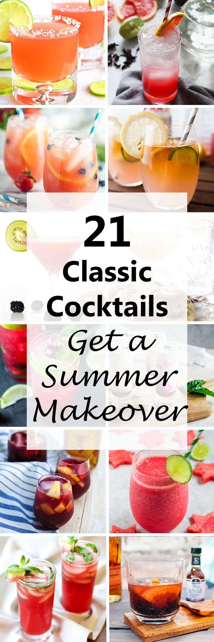 Cool down and get tipsy this summer with one of these delicious twists on classic cocktails.  #cocktails #drinks #recipes #summer