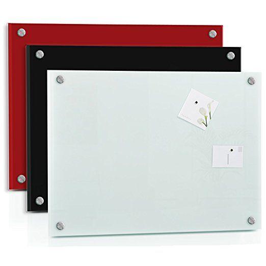 Tableau en verre casa pura® Luxury   3 coloris   verre de sécurité   surface magnétique, inscriptible   taille 60x90cm, noir: Amazon.fr: Fournitures de bureau