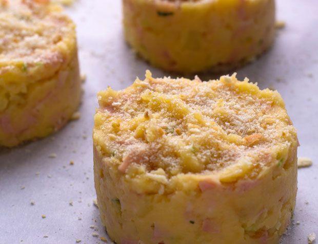 quick Oven Baked Mashed Potato Cakes