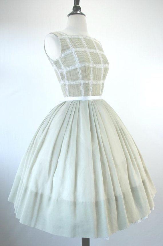 Vintage Dress Plus Size 50s Dress Ebay Uk 50s Dresses Pinterest