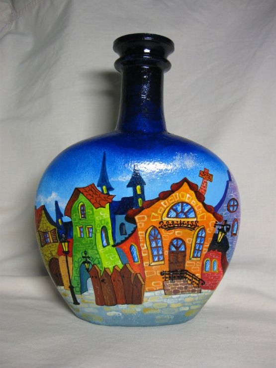 Ideas painting bottles. Discussion on LiveInternet - Russian Service Online Diaries                                                                                                                                                                                 Más