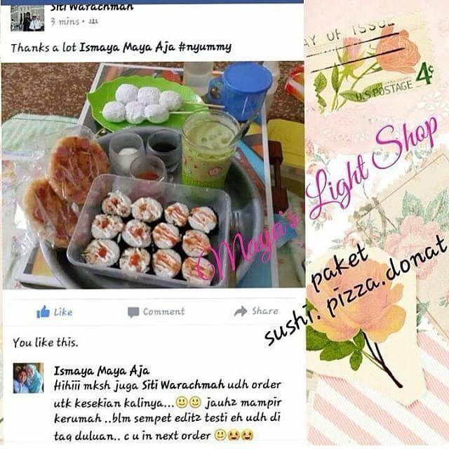 Kamu suka sushi??disini ada sushi rasa lidah indo ga amis dijamin suka  Makasih yang sudah blanjabanyak yang ketagihan... Mau coba?? Yuk bs di order menunya banyakkk _ Scroll ke bawah untuk detail harga BUDAYAKAN BACA ---- OPEN ORDER SUSHI HOMEMADE HALAL MADE BY ORDER -FRESH FOOD --------- Daftar Harga Menu Sushi :  Sushi sosis Inside 8slice 20rb Sushi Sosis mentai 4slice 20rb Sushi nugget mentai 4slice 20rb Sushi stick crab bakar 4slice 20rb Sushi stick crab inside 6slice 20rb Sushi Egg…