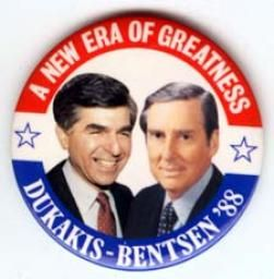 The United States presidential election of 1988 was the 51st quadrennial presidential election. It was held on Tuesday, November 8, 1988. Incumbent Vice President, George H. W. Bush, won the Republican nomination, and chose the young Senator from Indiana, Dan Quayle as his running mate. The Democrats nominated Michael Dukakis, Governor of Massachusetts and Texas Senator Lloyd Bentsen as his running mate.