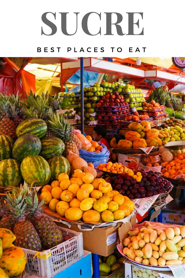 Best Places to Eat in Sucre, Bolivia – Buen provecho!  Sucre, a UNESCO listed city in Bolivia has amazing food. Do not waste your time on the bad stuff, check out this list of the Best Places to Eat in Sucre!