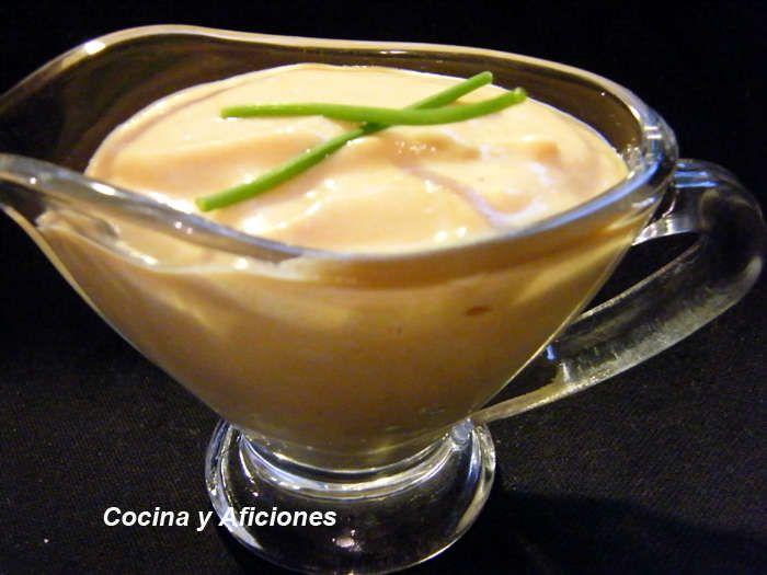 Salsa de Pimientos con queso fresco batido, receta