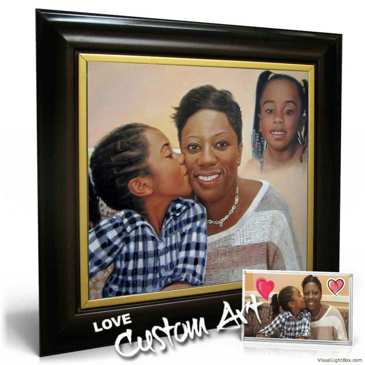 Family portrait paintings from photos make a wonderful gift! From birthdays to Mother's Day - so many cool options to choose from! At www.lovecustomart.com starting at $69 for a charcoal drawing!