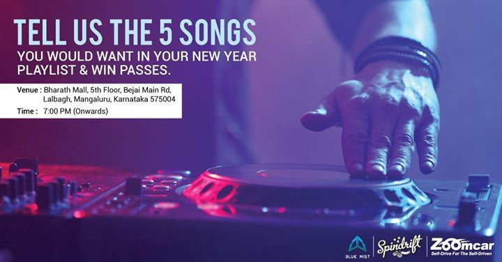 #Mangalore - Do you want to attend the craziest New Year party in town for free? Just send us the list of 5 songs that you wish to listen at the party & why tag minimum 3 friends to win passes to the event. Two lucky winners will win 'Unlimited food & drinks' at the event! Hurry contest ends on 29th Dec!
