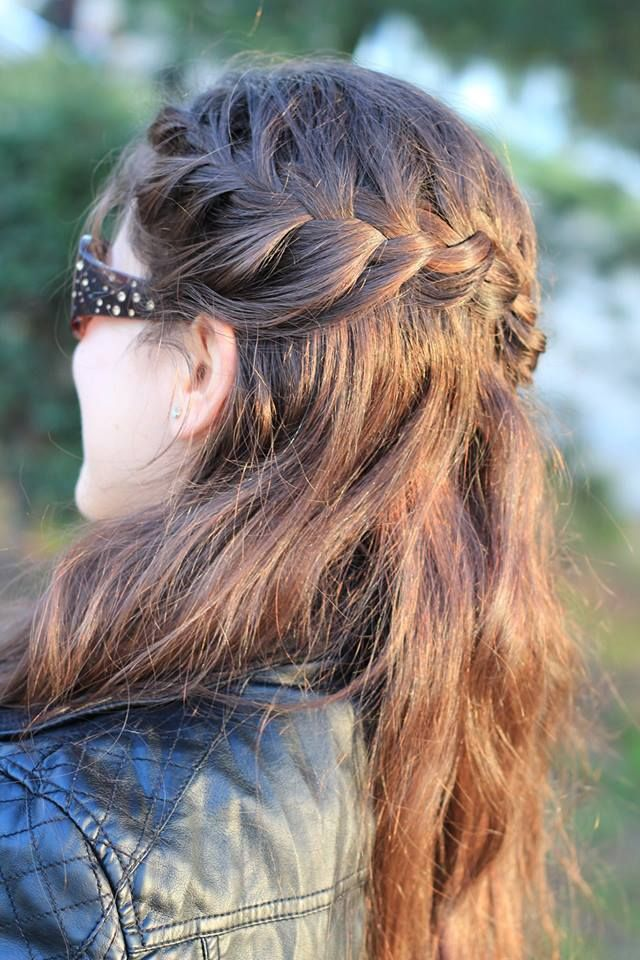 Simple braid hairstyle
