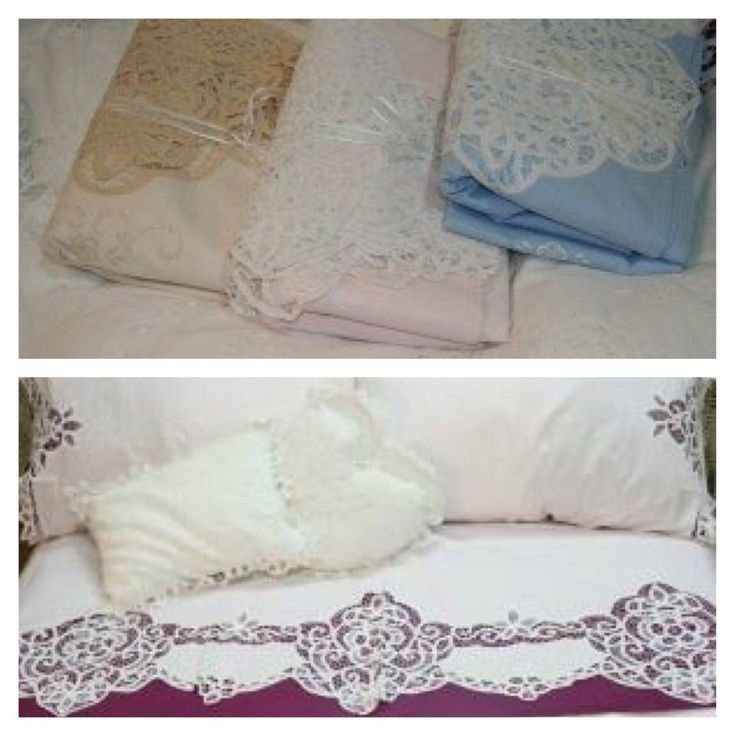 Elite Battenburge Lace sheet sets #BOXINGDAY #SALE  The Crown Jewel of our Bedsheet collection is this Elite Battenburg Lace 4-pieces sheet set, complete with elaborate hand embroidered & full lace-edged top sheet, with matching pillow cases & fitted (regular). #Sale $89.95 CAD (regular $157)  Pink or Blue Set $99.95 (regular $157)  SHOP NOW (SALE VALID TO JANUARY 7, 2016) https://thel  #shopvintage #vintagedecor #weddings #lace #battenburg #antique #handembroidered #vintagedoily #vintag