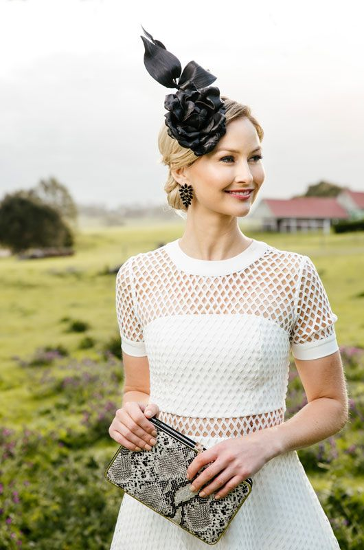 Kookai Dress, Olga Berg Clutch with Jill & Jack Millinery