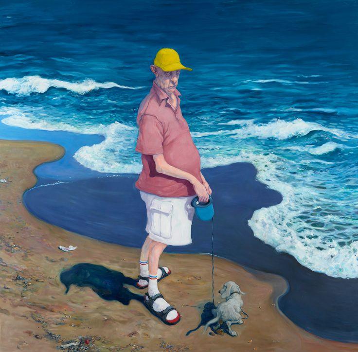 Michael Kvium, Sea Monster, 2012, Oil on canvas, 300 x 300 cm (MKv 12 107)