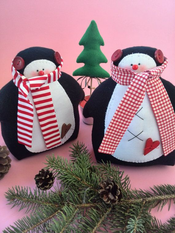 Christmas Toy Ideas : Penguin christmas toy decorations tilda toys