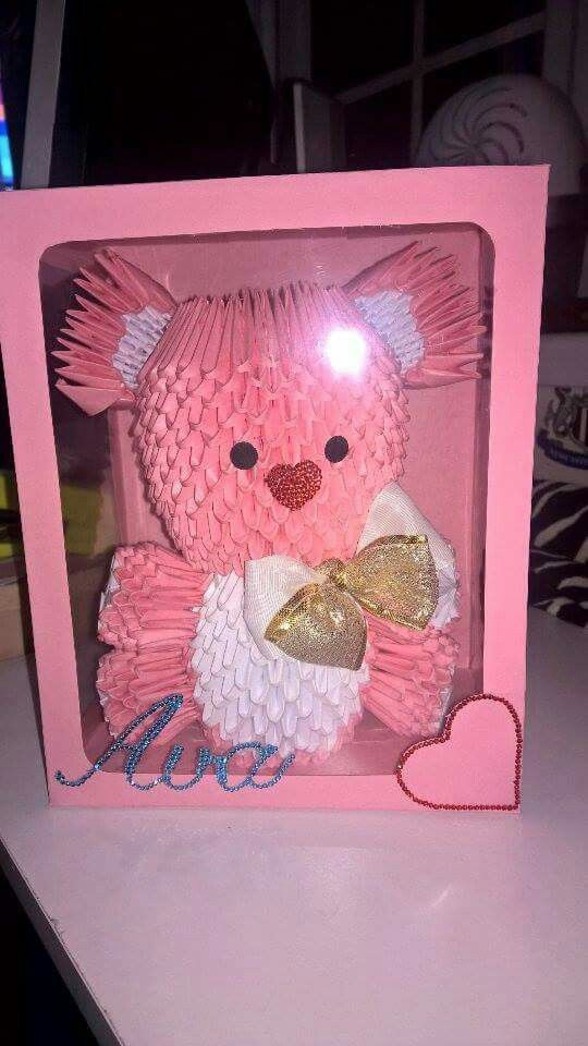 3d pink teddy bear for a baby girl