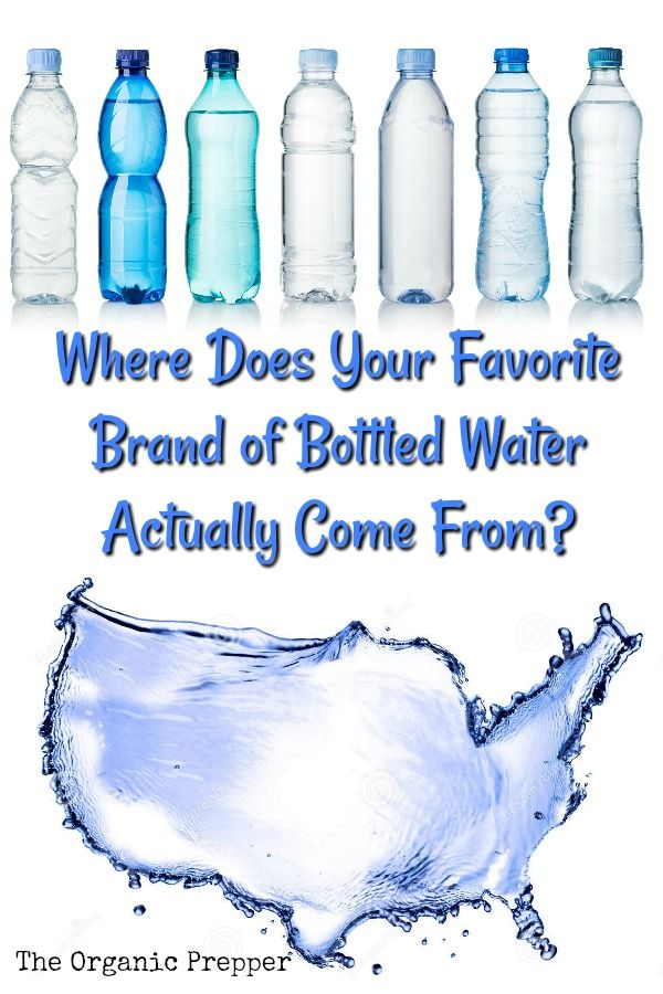 Where Does Your Favorite Bottled Water Actually Come From Organic Drinks Water Bottle Branded Water Bottle