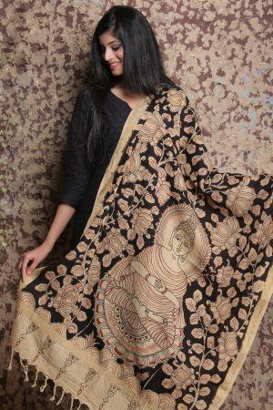 Andhra Allure: Kalamkari Dupattas By National Awardee M Vishwanath Reddy - Buy Women's Salwar Kurta Online At Flipkart : http://fkrt.it/mWI7YNNNNN