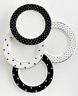 Kate Spade Larabee Road 4 Black TIDBIT PLATES Polka-Dot Tidbit NEW , http://www.amazon.com/dp/B004APUOES/ref=cm_sw_r_pi_dp_t4o-pb0SYBT19