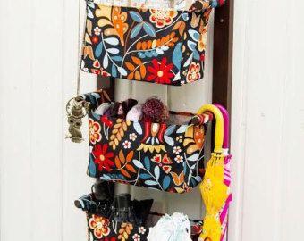 Items similar to Diaper Caddy Wall Hanging Organizer - Nursery Storage Bins - Kids Room Nursery Fabric baskets - Change Table Storage Custom Organizer on Etsy