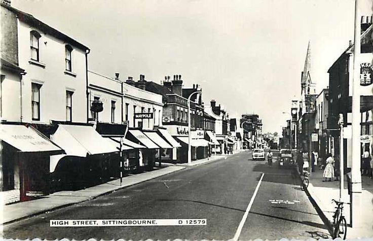 High Street Sittingbourne Kent UK United Kingdom 1962 Real Photo Postcard picclick.com