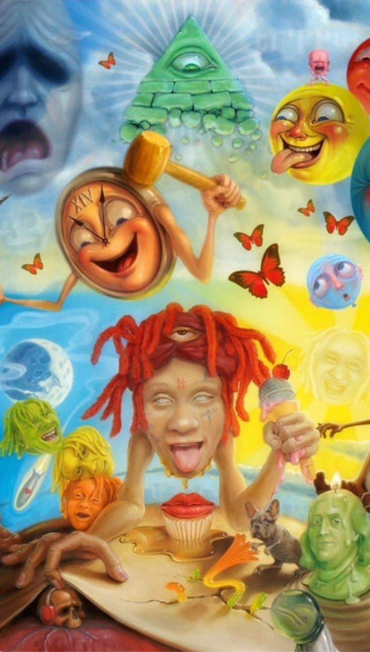 Trippie Redd LIFE'S A TRIP Iphone Wallpaper trippieredd